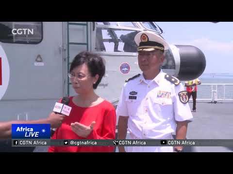Chinese Peace Ark hospital ship docks in Dar es Salaam