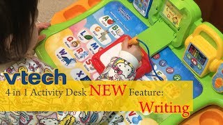Vtech Touch & Learn New 4 In 1 Activity Desk Review By A 2-year-old Girl | Learn To Write | Vtech學習桌