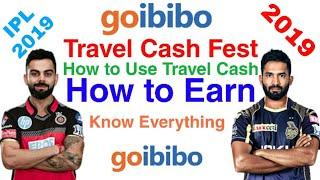 Goibibo Travel Cash Fest is Here! Earn Travel Cash During Every KKR Cricket Match!