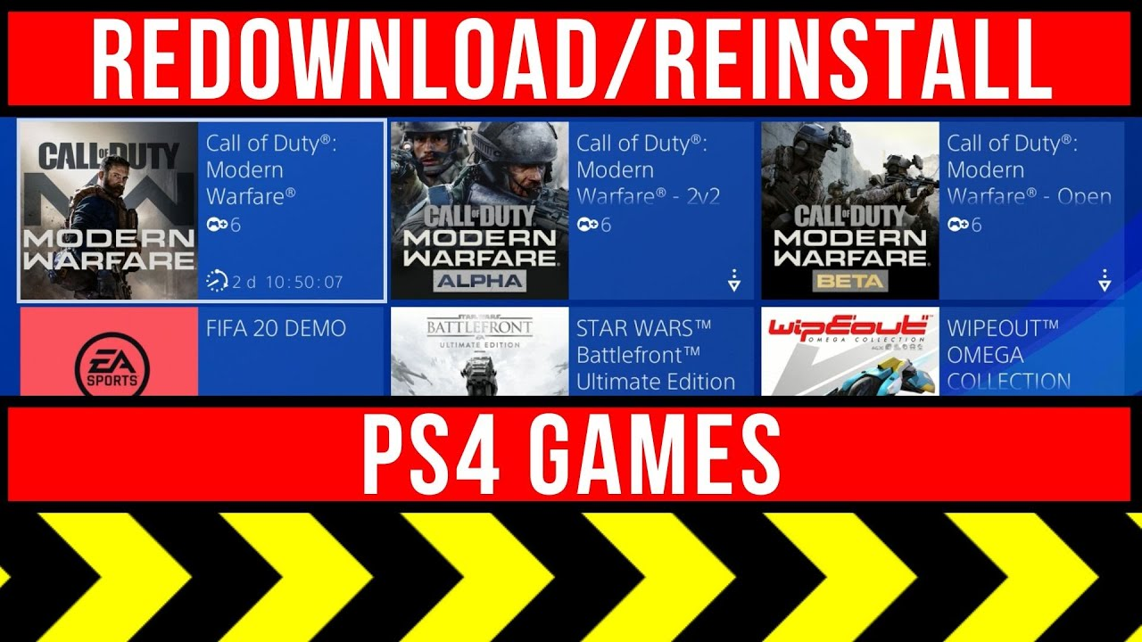 Re-downloading PlayStation Plus content
