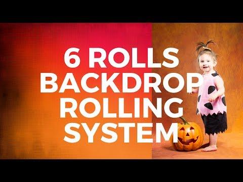 DIY 6 Rolls Backdrop Rolling System