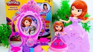Sofia The First Play Doh Amulet & Jewels Vanity Set Toy Review