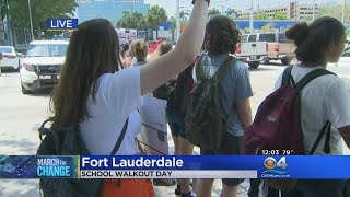 Students Rally At Ft. Lauderdale City Hall On National Walk Out Day