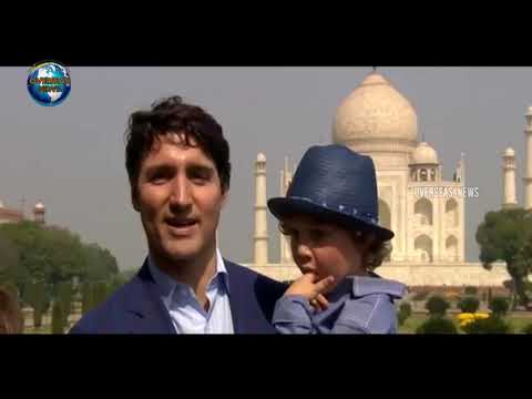 Canadian Prime Minister Justin Trudeau and family visit Taj Mahal | Agra | India | Overseas News