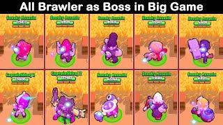 All Brawler as Boss in Big Game PART 3   Brawl Stars