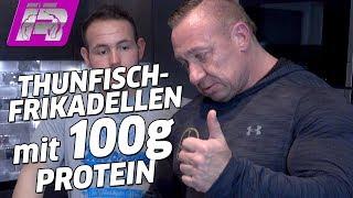 Markus backt Thunfisch Frikadellen mit 100g Protein