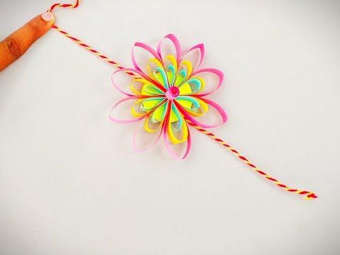 How to make Quilling Rakhi with DIY paper / LAST MINUTE PAPER RAKHI MAKING TUTORIAL / AMAZING IDEAS