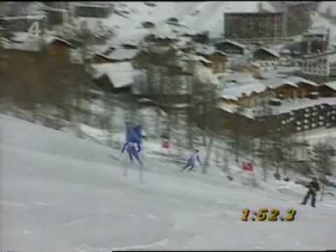 Albertville 1992 Ski curiosity, rare skiers (Czech TV)