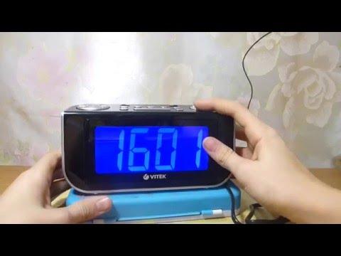 Как установить время на часах vitek