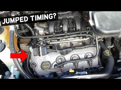 HOW TO KNOW IF A CAR JUMPED TIMING CHAIN TIMING BELT. SYMPTOMS JUMPED TIMING