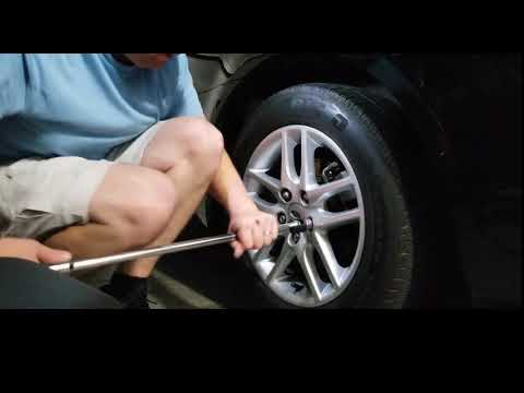 How to replace swollen lug nuts on a 2012 Ford Fusion (Mercury Milan)