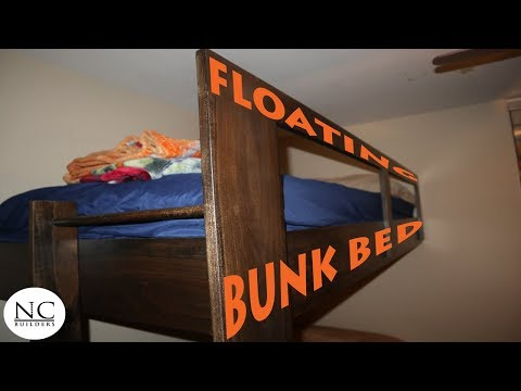 The AMAZING Floating Bunk Bed (DIY)