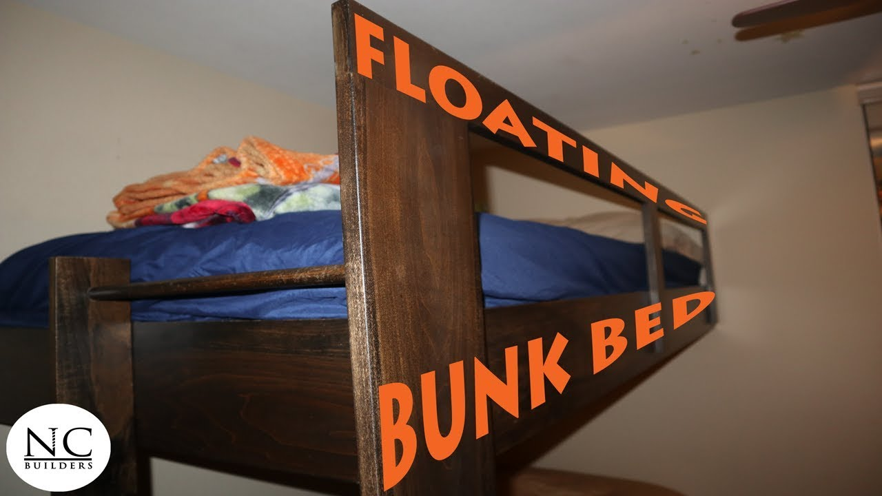 The Amazing Floating Bunk Bed Diy Youtube