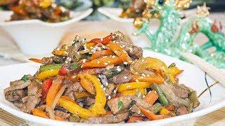 Свинина с овощами стир-фрай в азиатском стиле – Коллекция Рецептов