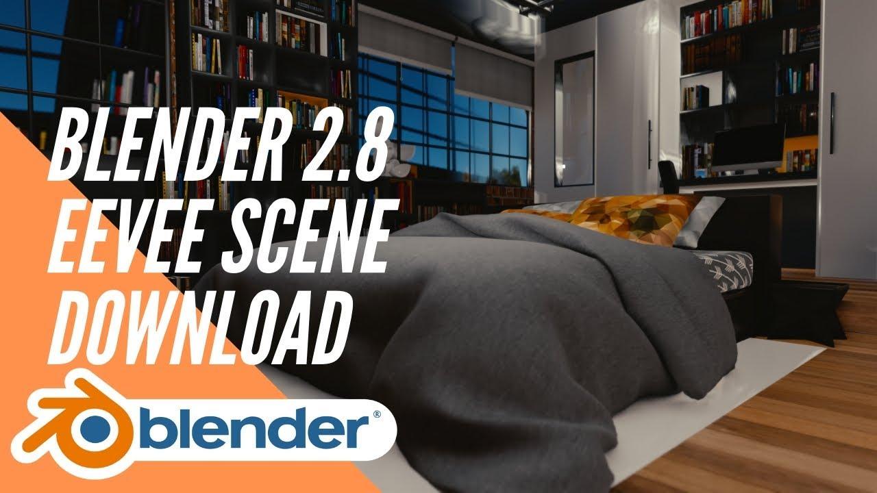 Blender 2 8 EEVEE scene demo + blend file download link