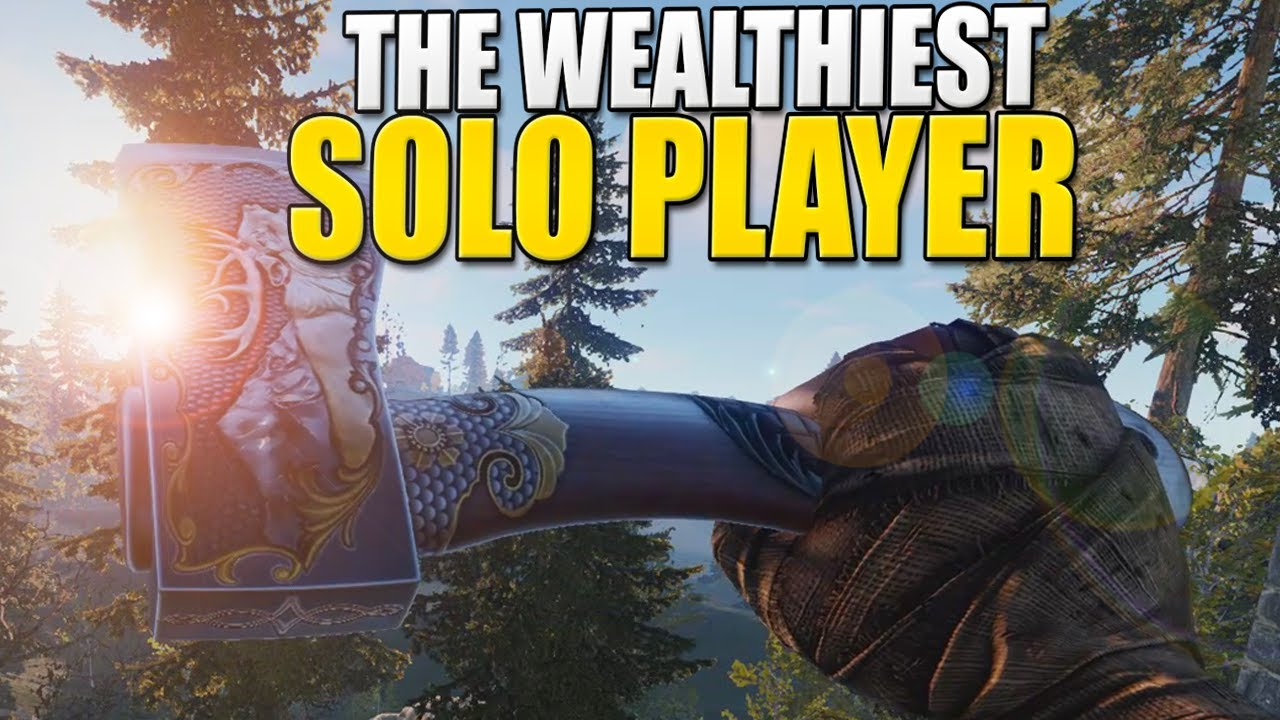 How I Became THE RICHEST SOLO PLAYER On The Server (Rust)