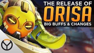 Overwatch: Orisa LIVE! - Huge BUFFS To Sombra & Zenyatta!