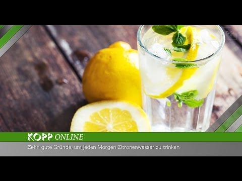 Zitronenwasser ist das perfekte Gesundheitsgetränk, um den Tag zu beginnen