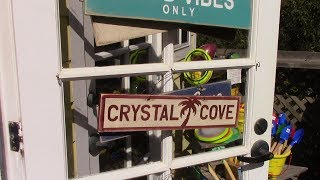 Crystal Cove Historic District cottages  Many movies have been filmed クリスタルコーブ 多くの映画が撮影 米国生活