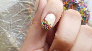 Crushed crayons nail art ||best from the waste ||crushed crayons को फेंकने से पहले देखें ये video