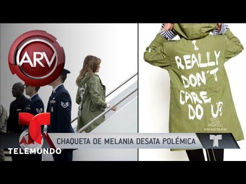 Melania Trump desata a polémica cunha chaqueta con mensaxe