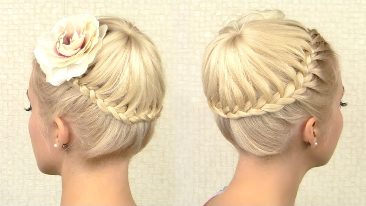 Crown braid tutorial prom updo hairstyle for medium long hair crown braid tutorial prom updo hairstyle for medium long hair youtube ccuart Gallery
