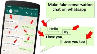 [Exclusive] How to make fake chat or fake group chat on WhatsApp 2018