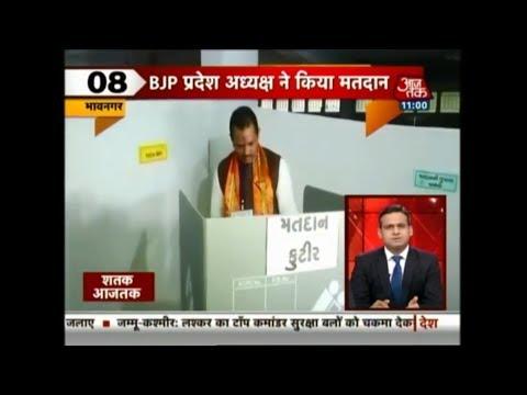 Shatak Aajtak | BJP State President Jitu Waghani Casts His Vote in Bhavanagar