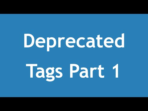 [ Html5 In Arabic ] #02 - Deprecated Tags Part 1