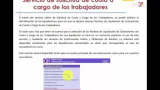VIDEO DE LA SOLICITUD DE CUOTA A CARGO DE LOS TRABAJADORES
