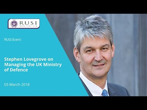 Stephen Lovegrove on Managing the UK Ministry of Defence
