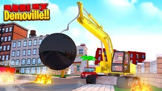 ROBLOX - DEMOVILLE - DESTROYING ROBLOX CITY!!