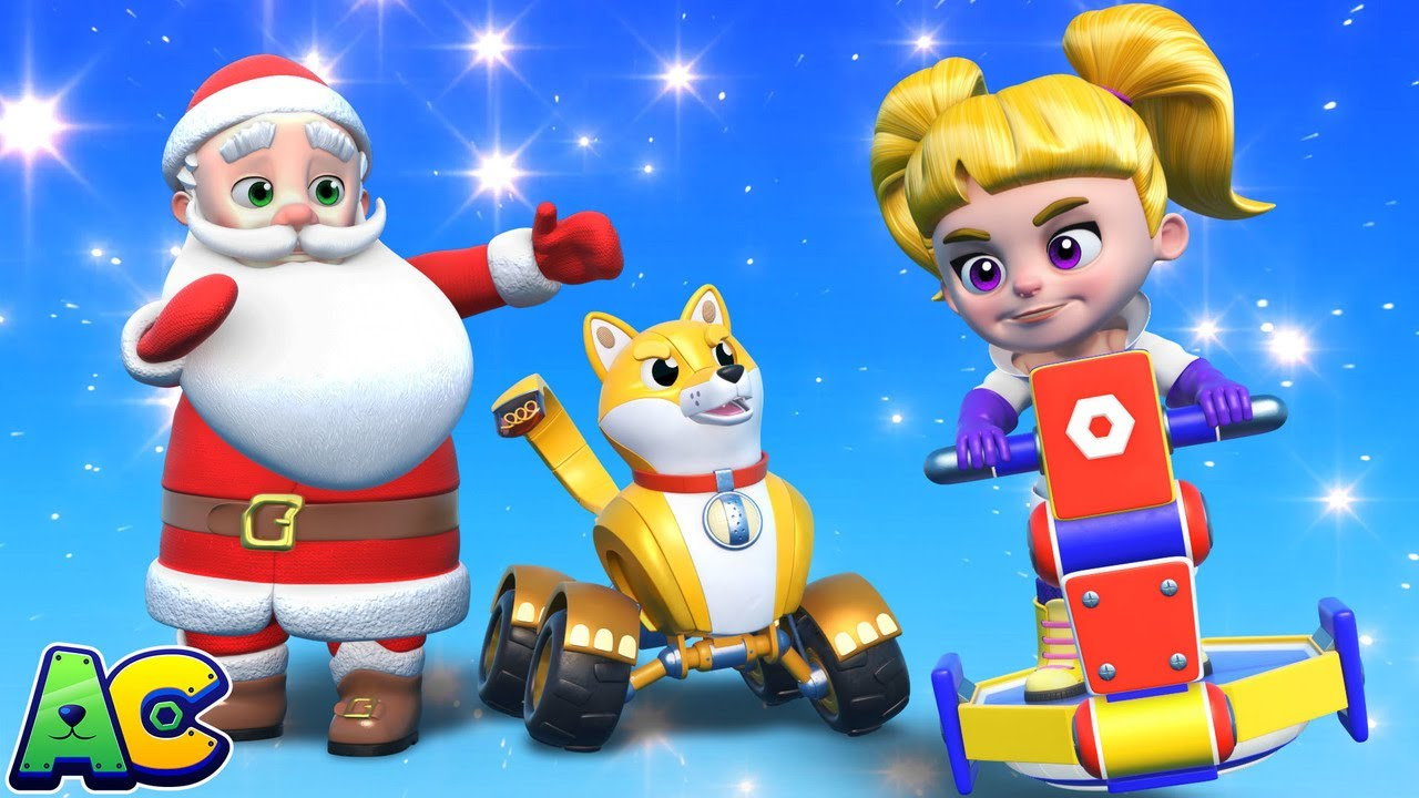 Download AnimaCars - Evil Vicky STOLE all of SANTA'S CHRISTMAS PRESENTS - kids cartoons with trucks & animals