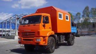 Агрегат наземного ремонта водоводов АНРВ-1УС с  КМУ ИМ-50  на шасси КАМАЗ 43502-3026-45