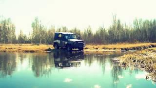 Утопили УАЗик в реке