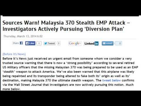 Malaysia 370 Stealth EMP Attack Imminent?