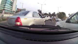 Hit and run driver flees the second time and gets instant karma