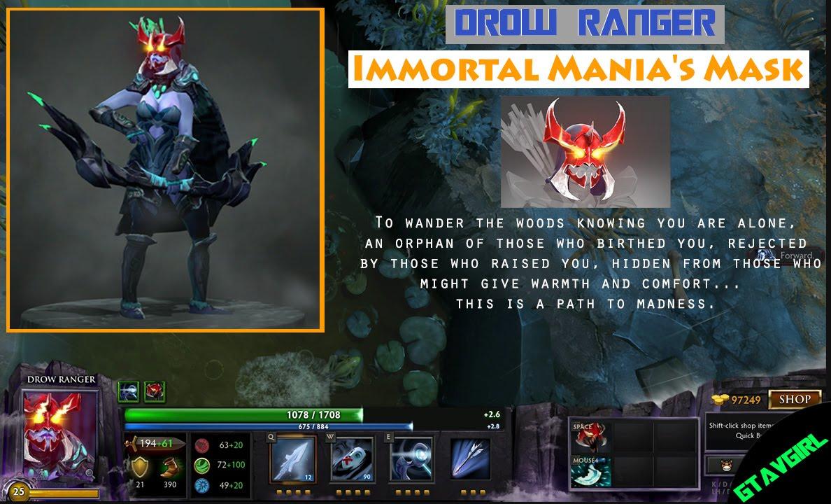 Drow Ranger Dota 2 Immortals