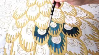 Silk painting 7