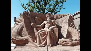 песок и труд. Песочные скульптуры в Санкт - Петербурге 2019 год.
