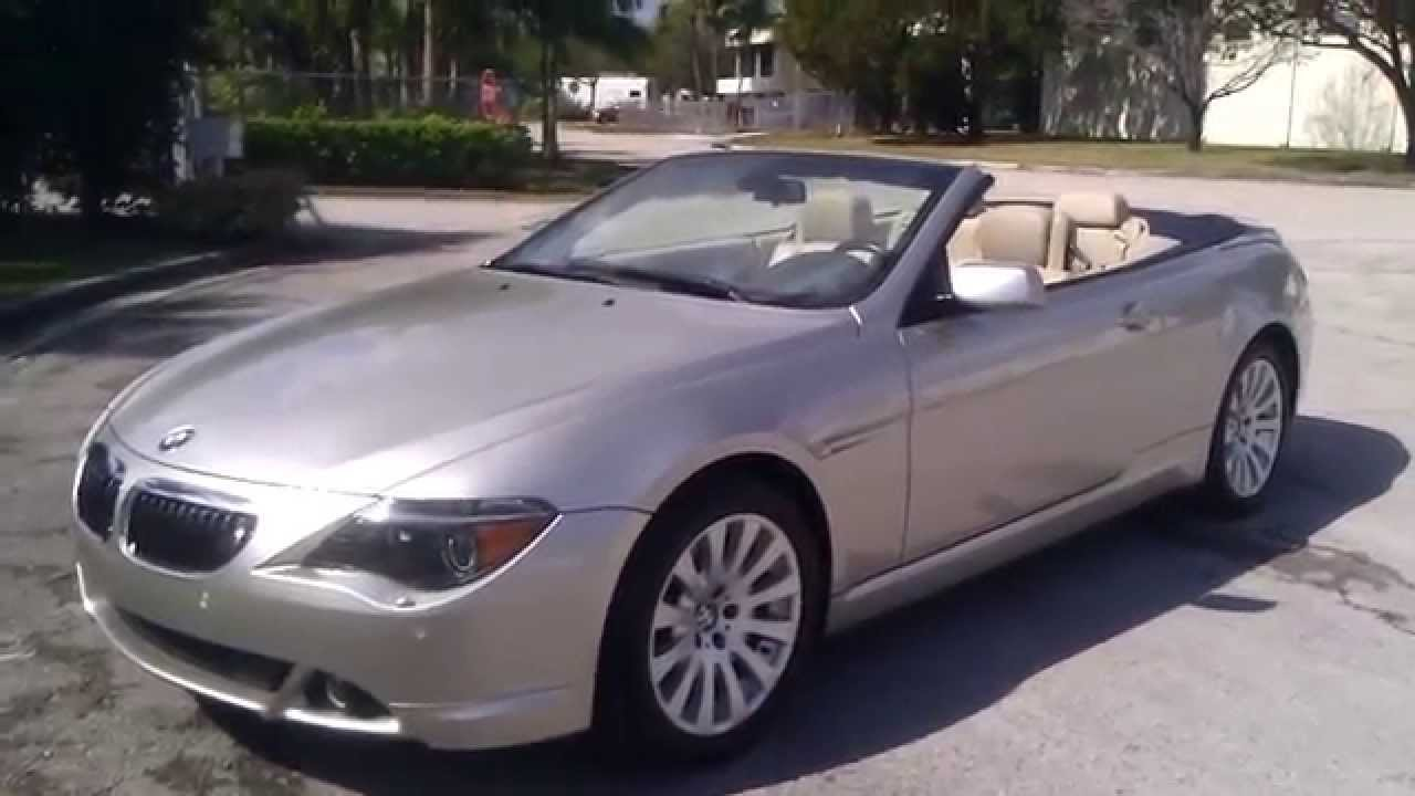 FOR SALE BMW CI Convertible With Navigation YouTube - 2004 bmw 645ci convertible for sale