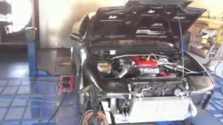 S13 SR20DET dyno pull on 7psi