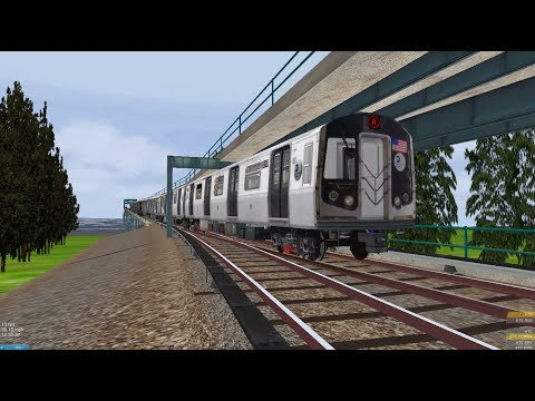 OpenBVE HD: Chasing NYC Subway R179 A Train From Inwood-207th Street to Far Rockaway-Mott Avenue