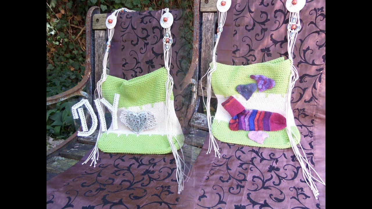 Diy Coole Beutel Tasche Bag Häkeln Selber Machen Genaue