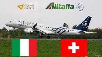 Alitalia E190 Rome Fiumicino (FCO) - Zürich Flughafen (ZRH) flight