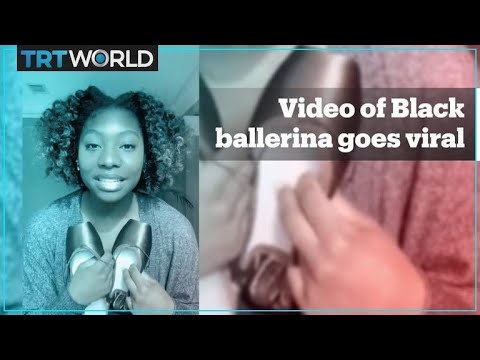Video of Black ballerina and her matching pointe shoes goes viral