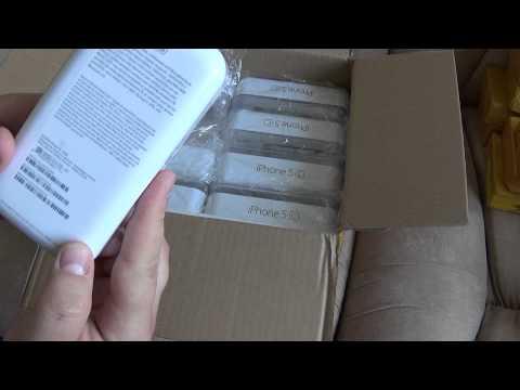 Посылка из Китая: 8 штук Iphone 5c из Китая (коробки)/ 8 Iphone 5c pieces from China (box)
