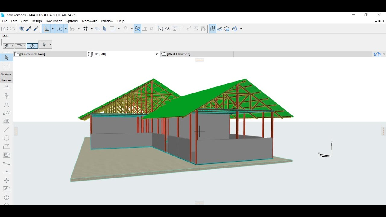 Desain Gudang Konstruksi Kayu Part I Youtube