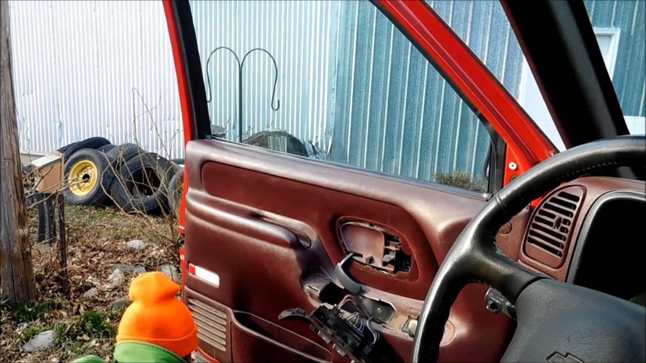 Silverado 95 chevy silverado parts : 95-99 Chevy GMC Interior Door Handle Replacement - YouTube
