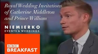 Mark Niemierko - BBC Breakfast - Kate Middleton and Prince William Wedding Invitations - Clip 1
